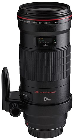 Canon EF 180mm f3.5L Macro USM front angled with tripod ring rotated.jpg