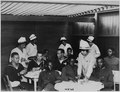 Canteen for Negro soldiers. In the canteen of the club for Negro soldiers and sailors which the Nat . . . - NARA - 533635.tif