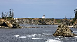 National Register of Historic Places listings in Coos County, Oregon - Image: Cape Arago Lighthouse