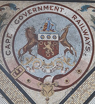 Cape Government Railways - The crest of the now defunct Cape Government Rails as seen in the Cape Town central train station.