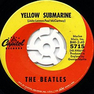 Yellow Submarine (song) - Original US release single