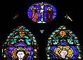 Cappella pulci-berardi, vetrata su disegno di bernardo daddi 02.jpg