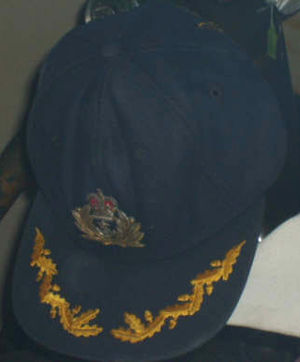 Jeremy Black (Royal Navy officer) - Black's cap worn whilst in command of Invincible, on display at the Imperial War Museum