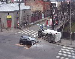 Car accident poland 2008