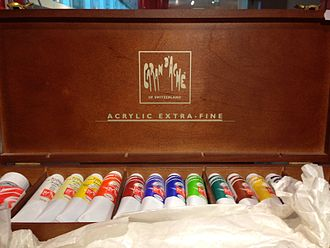Acrylic paint - Tubes of acrylic paint made by Caran d'Ache