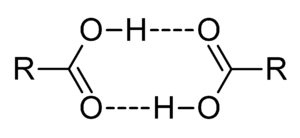 Dimer (chemistry) - Dimers of carboxylic acids are often found in vapour phase.