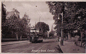 Cardiff Corporation Tramways - Tram 37 on Newport Road, Cardiff, ca. 1912