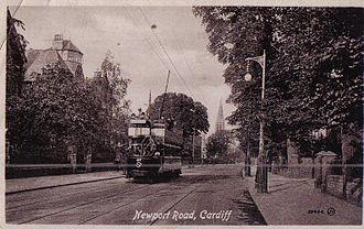 Newport Road - Tram on Newport Road c. 1912