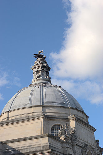 Henry Vaughan Lanchester - Image: Cardiff City Hall dome