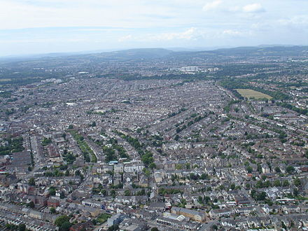 Residential areas of northern Cardiff Cardiff northern residential.jpg