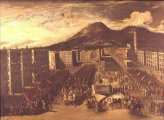 Neapolitan Republic (1647) - Naples surrenders to John of Austria. Painting by Carlo Coppola. Museo di San Martino.