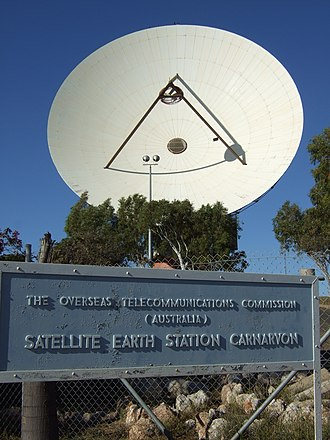OTC Satellite Earth Station Carnarvon - The Dish in August 2009