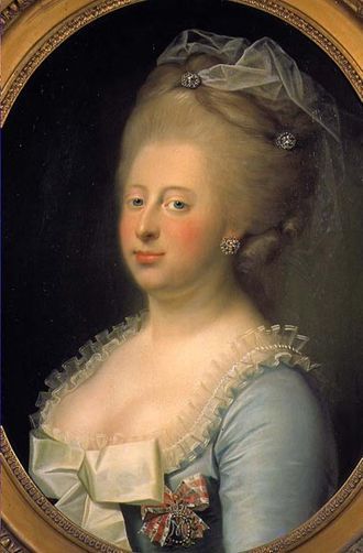 Celle Castle - Caroline Matilda, who was banished and lived in Celle Castle; 1771 painting
