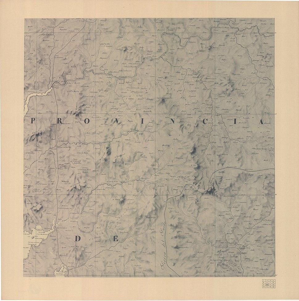 Carta geométrica de Galicia 1834 facsímil 1974 hoja 11