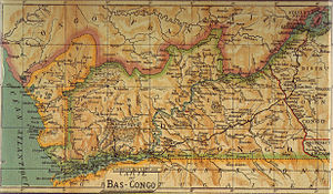 Cabinda Province - 1913 map of Bas-Congo and Cabinda