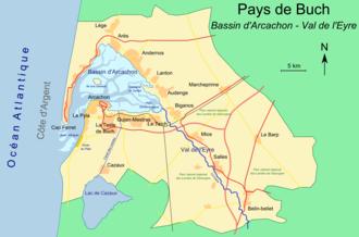Pays de Buch - Carte du Pays de Buch et du Bassin d'Arcachon