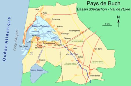Carte Bordeaux Arcachon.Pyla Sur Mer Wikipedia