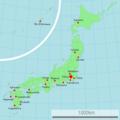 Carte du Japon avec les principales villes où l'association Green Bird est implantée.png