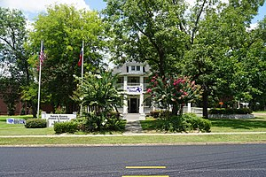 Carthage, Texas - The historic Hawthorn-Clabaugh-Patterson House is now the location of the Carthage Chamber of Commerce.