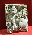 Carved ivory from Nimrud (Kalhu), sphinx, 9th to 7th century BCE. From Nimrud, Iraq. Iraq Museum.jpg
