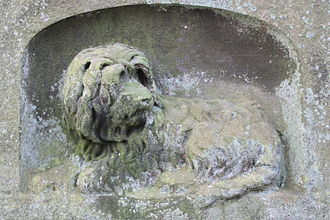 Horatio McCulloch - carving of a Skye Terrier on the back of Horatio McCulloch's grave