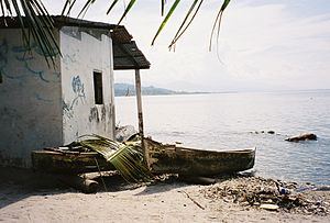 Omoa - Fisherman's house.