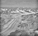 Casement Glacier, valley glacier with medial moraines, August 26, 1979 (GLACIERS 5304).jpg
