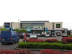 Donington Park services - The main building