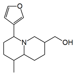 Chemical structure of castoramine.
