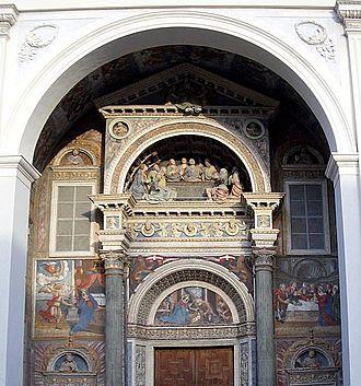 Aosta Cathedral - Image: Cattedrale Aosta Portale