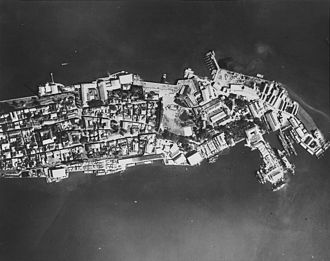 Cavite City - The U.S naval base in 1941 before its destruction in 1945.