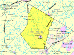 Census Bureau map of Wantage Township, New Jersey.