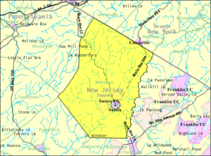 Wantage Township, New Jersey - Image: Census Bureau map of Wantage Township, New Jersey