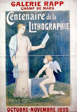 Centenaire de la lithographie par Puvis de Chavannes 1895.jpg