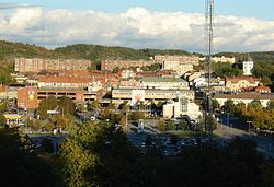 Overlooking the centre of Uddevalla
