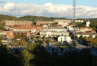Uddevalla - Overlooking the centre of Uddevalla