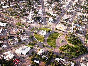 Boa Vista, Roraima - Aerial view of Centro Civico Square
