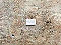 Cesena, rocca malatestiana, fossato, mura, lapide di renato seppa (rotta dal terremoto del 2012).JPG