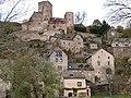 Château au sommet du village de Belcastel.JPG