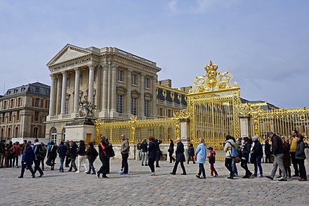 Palace of Versailles (begun by Louis Le Vau in 1661) Chateau de Versailles 04 2016 5737.jpg