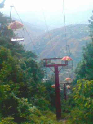 Chairlift - Chairlifts in Murree, Pakistan.