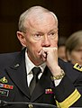 Chairman of the Joint Chiefs of Staff U.S. Army Gen. Martin E. Dempsey testifies about sexual assault in the military before the U.S. Senate Armed Services Committee on Capitol Hill in Washington, D.C., June 4 130604-A-HU462-294.jpg