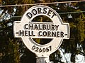Chalbury Common, finger-post detail - geograph.org.uk - 1741179.jpg