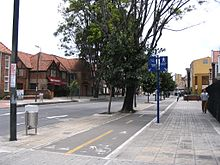 http://en.wikipedia.org/wiki/File:Chapinero_bike_path.JPG