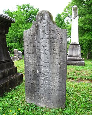 Charles McClung - McClung's grave at Old Gray Cemetery