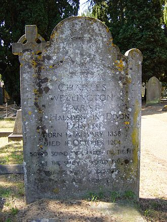 Charles Wellington Furse - Grave of Charles Wellington Furse in the churchyard of St Peter's Church, Frimley