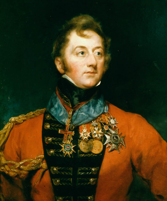 Charles William Doyle - Painting of Sir Charles by Margaret Sarah Carpenter, 1824