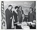 Chase Rheault, Jr.; Diane Duboil, Miss Printing Weekly; Edward J. Kelley; Morris Greenbaum; Mayor John F. Collins (12774656855).jpg