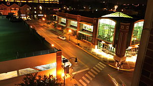 West Lafayette, Indiana - West Lafayette Public Library at night
