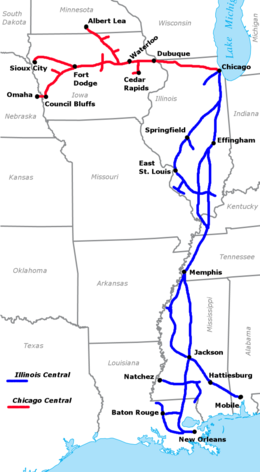 Chicago Central and Illinois Central route map 1996.png